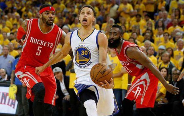 Rockets'ı farklı deviren Golden State seride öne geçti!