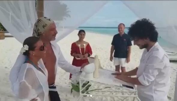 Behzat ve Çiğdem Uygur çifti Maldivlerde