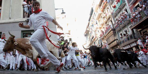 İspanyanın ünlü boğa festivali: San Fermin