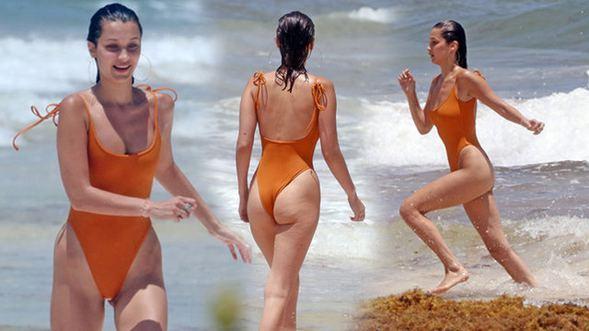 Bella Hadid, Meksika turizm cenneti Cancun'da tatil yapıyor