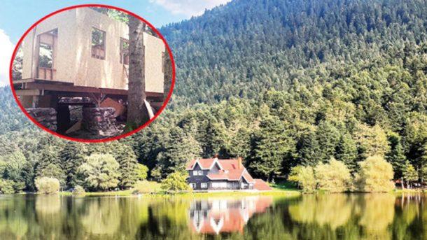 Bolu Belediyesi mahkeme kararını beklemeden Milil Parka bungalov yapmaya başladı