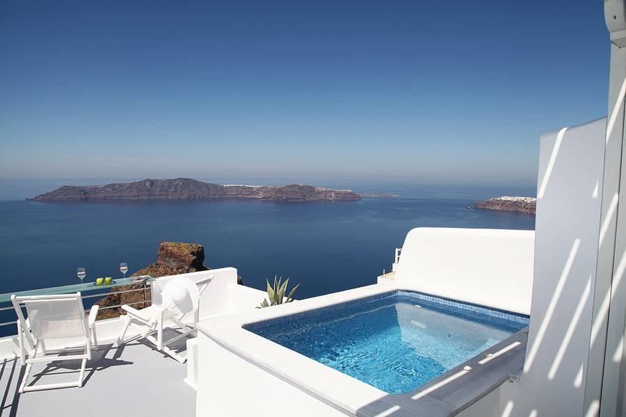 Yunan adası Santorini Carpe Diem Boutique Resort balayı tatili