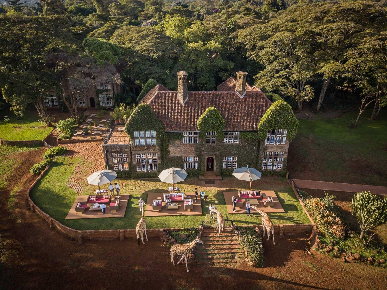 Nairobi Kenya Giraffe Manor lüks balayı için en iyi otel