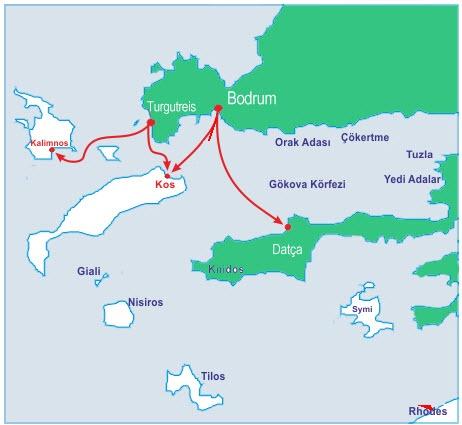 Kos Adası'na nasıl gidiliyor
