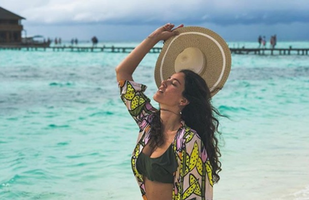 Pelin Akil ve eşi Anıl Altan Maldivler tatilinde!