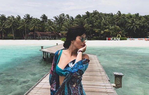 Pelin akil, eşi ile birlikte Maldivlerin tadını çıkarıyor