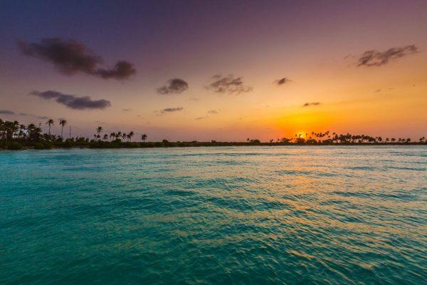 Vumawimbi sahilinde güneşi batırın
