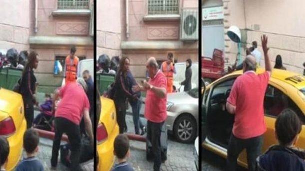 Kadın turisti indiren o taksici gözaltına alındı