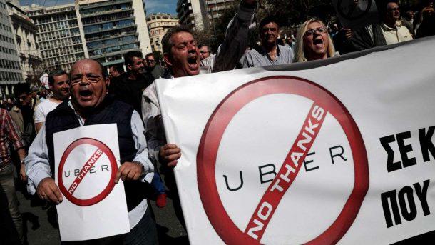 UBER Yunanistan'da da tartışmalara yol açtı!