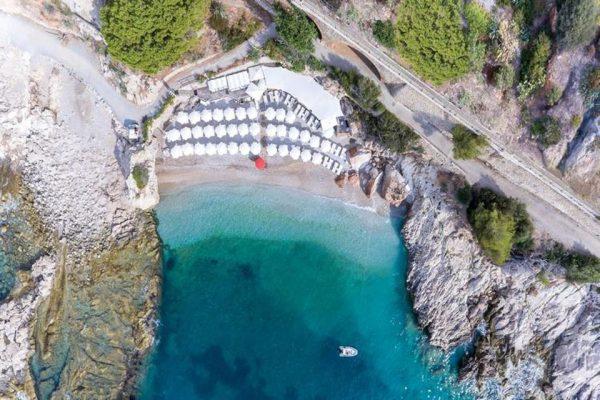 İtalyan plajları Balzi Rossi Plajı Liguria