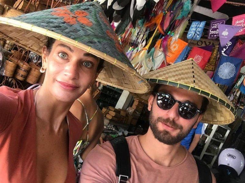 Berrak Tüzünataç ve Birkan Sokullu balayı adası Bali'de