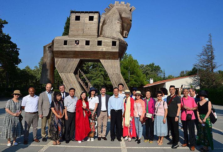 Troya Antik Kenti, Çinli Bakan Shugang'ı ağırladı