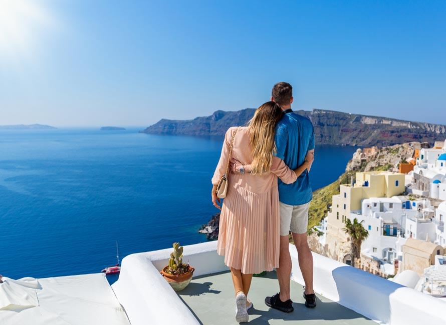 Santorini balayı çiftlerinin ilk tercihi