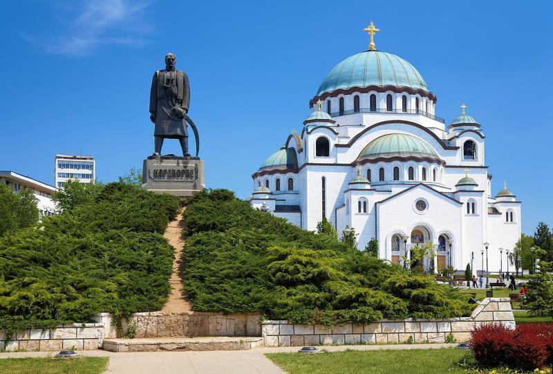 Belgrad'ın dünyanın en ünlü Aziz Sava Katedrali