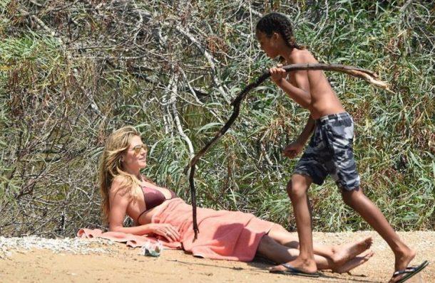 Heidi Klum İtalya Plajları'nda çocuklarıyla tatil yapıyor