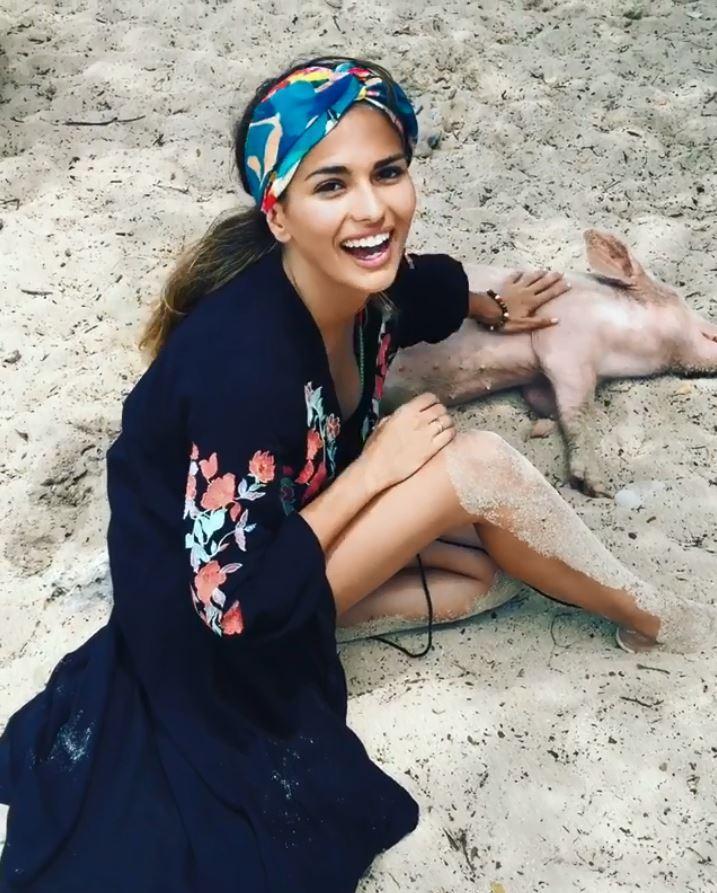 İsco Barbados tatilinde sevgilisi Sara Salamo ile