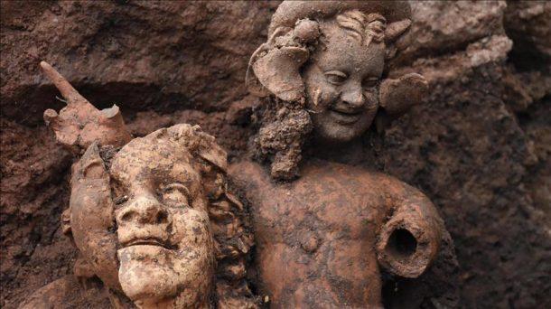 Ordu'da 'Ana Tanrıça Kibele Heykeli'nin partneri Dionysos bulundu