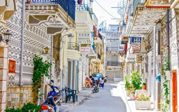 En güzel Yunan adası Sakız Pyrgi köyünü ziyaret etin