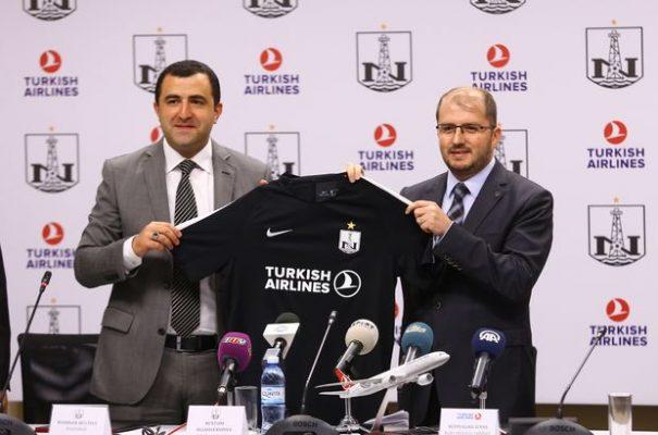 Azerbaycan'ın Neftçi takımının yeni sponsoru THY oldu