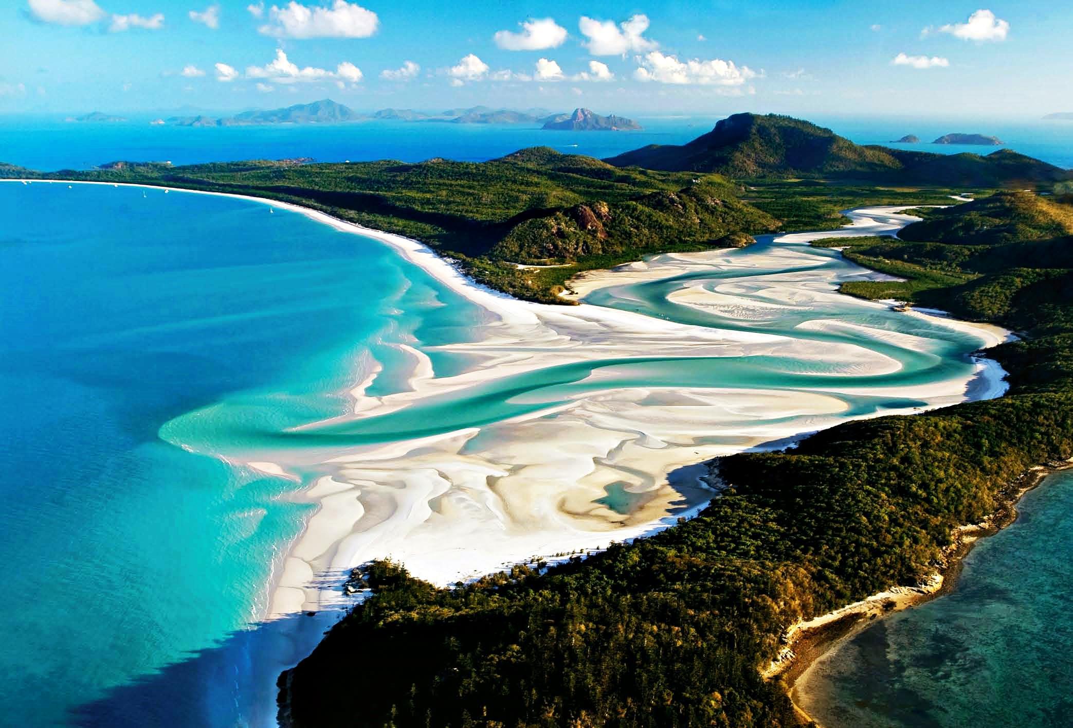 Dünyanın en iyi 10 plajı Whitehaven Plajı Avustralya