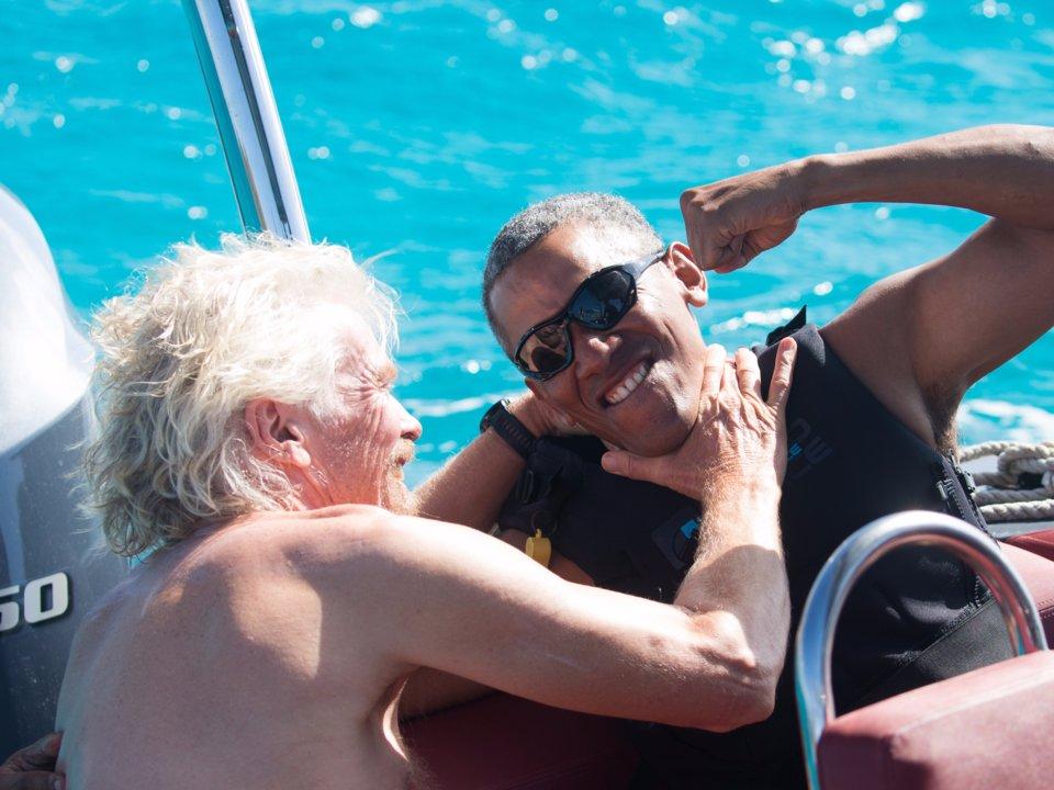 Branson , Obama'dan büyük bir onur duydu
