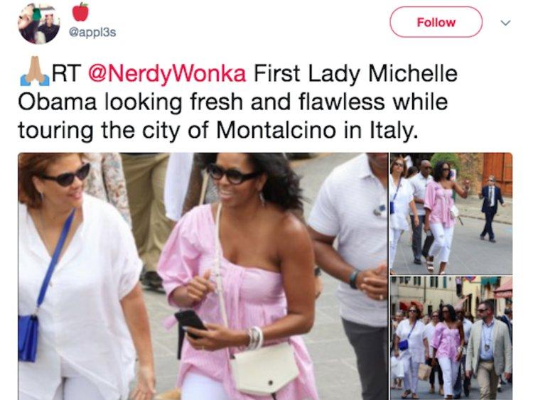 Michelle Obama gezip alış veriş yaptı