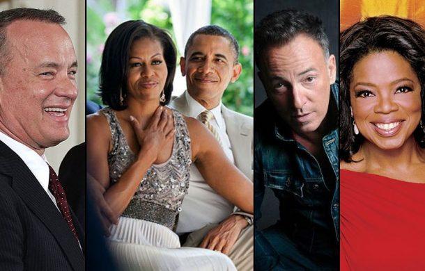 Obamalar, Bruce Springsteen, Tom Hanks ve Oprah Winfrey ile aynı teknede