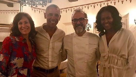 Obamalar Massimo Bottura'nın yemeklerini tattı