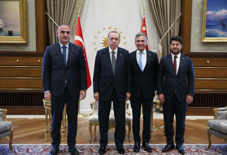 TÜRSAB heyeti Cumhurbaşkanı Erdoğan'a o raporu sundu!