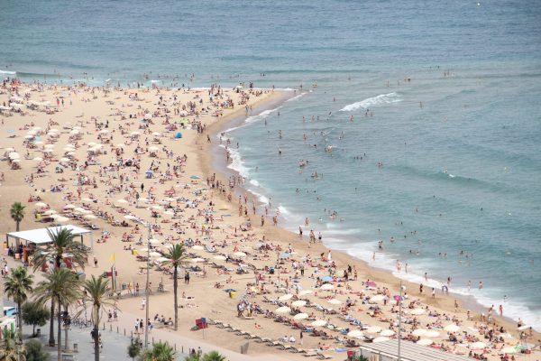 Barceloneta Plajı İspanya