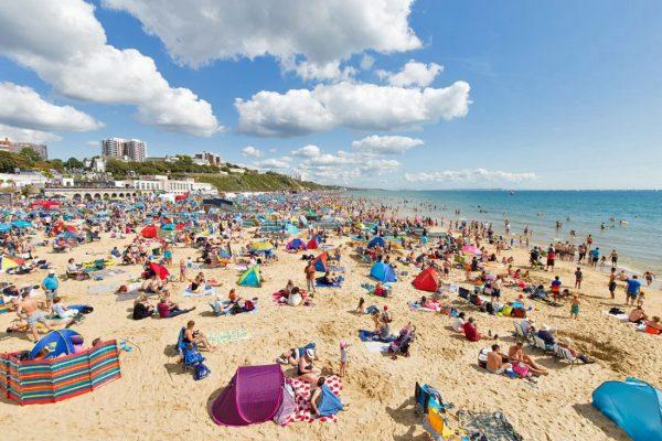 Bournemounth Plajı İngiltere
