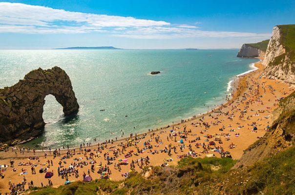 Durdle Door Plajı İngiltere