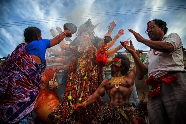 Hindistan Durga Puja festivali