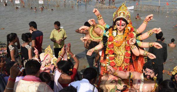 Hindistan'da Bengalilerin en önemli festivali Durga Puja