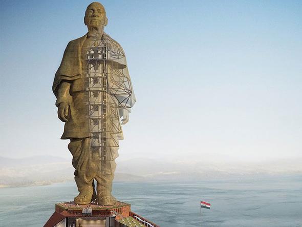 Hindistan'da dünyanın en büyük heykeli tamamlanıyor!