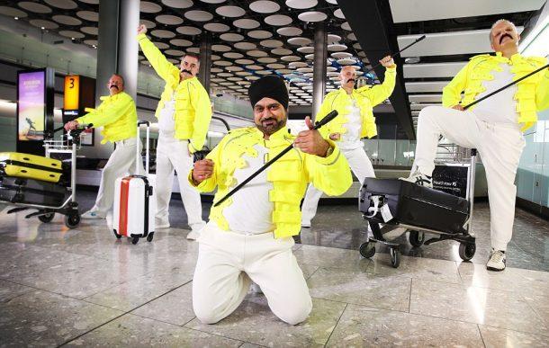 Londra Heathrow Havalimanı'nda Freddie Mercury adına muhteşem gösteri!