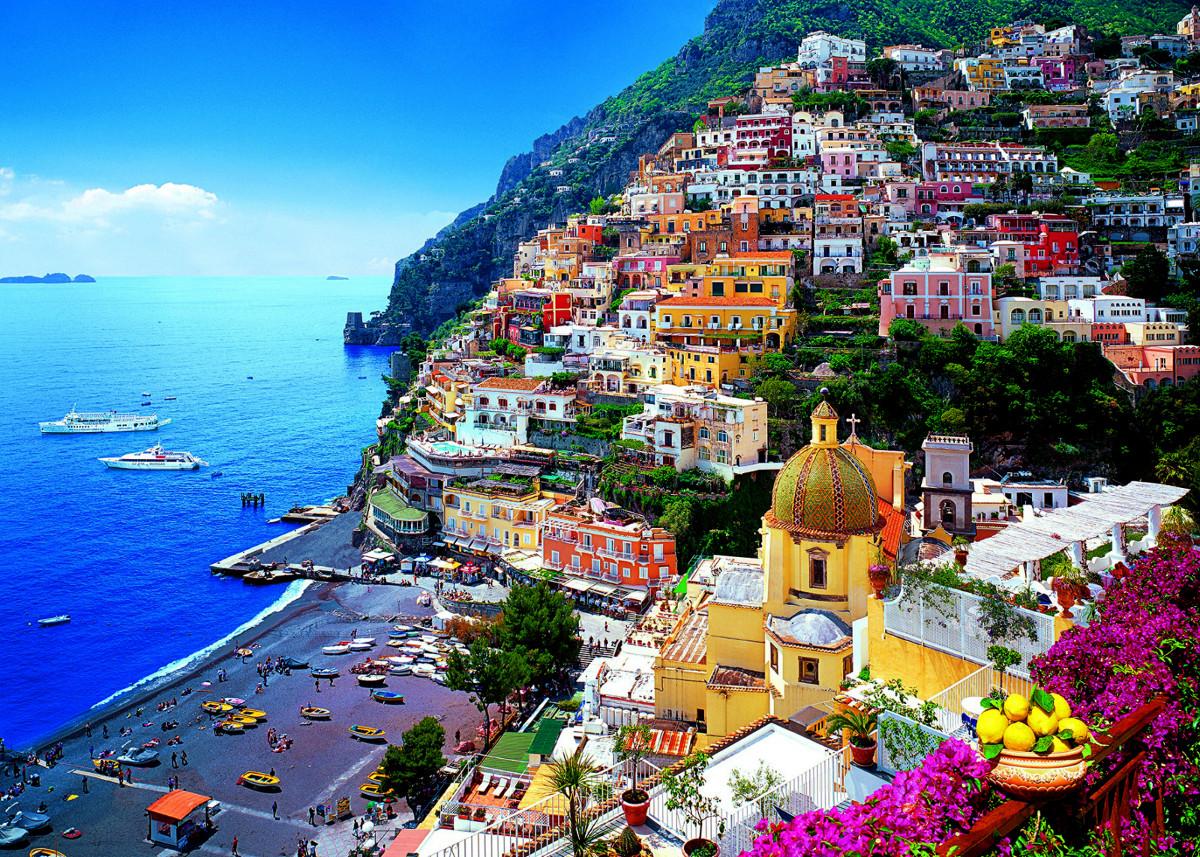 Positano Plajı İtalya