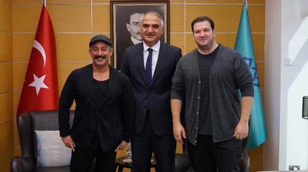 Turizm Bakanı Mehmet Ersoy, Cem Yılmaz ve Şahan Gökbakar ile buluştu!