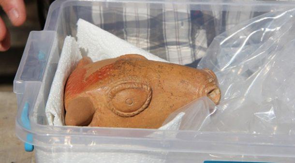 Hattuşa Antik Kenti'nde 3500 yıllık Hititlerden kalma içme kabı bulundu