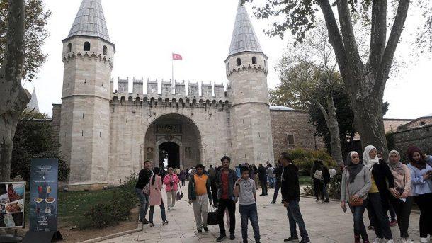 İstanbul'da turistlerin en çok ziyaret ettiği yer Topkapı Sarayı oldu!