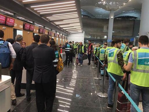 Yeni Havalimanı'nın operasyon akışı denendi.