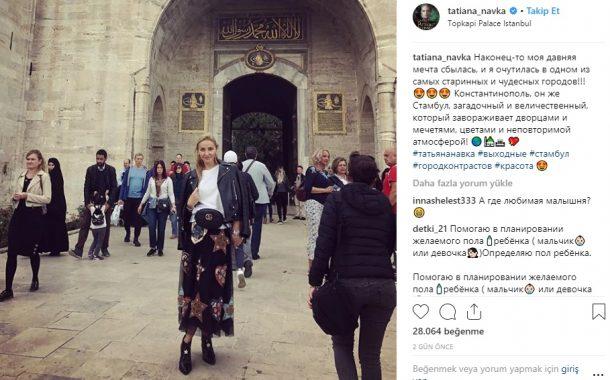 Dmitri Peskov ve eşi Tatyana Navka Topkapı, Dolmabahçe Sarayı ve Dilek Sütunu'nu gezdi