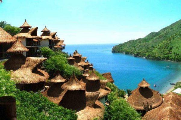 Turistlerin istila ettiği kasaba Taganga