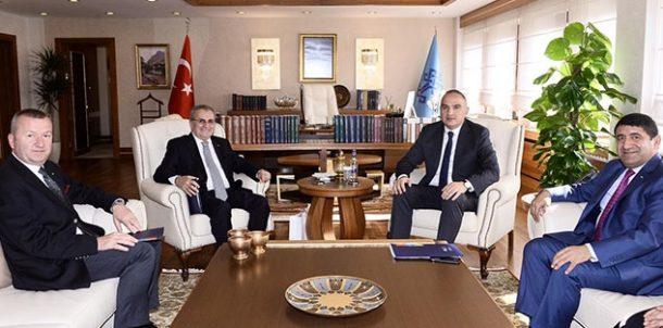 TÜROB'tan Kültür ve Turizm Bakanı Mehmet Ersoy'a ziyaret!