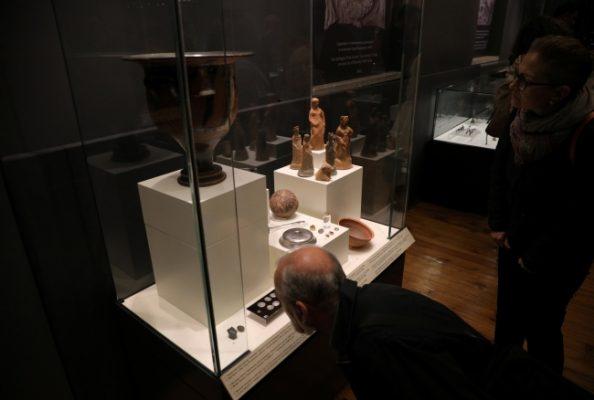 Karaborsadan kurtarılan eserler arkeoloji müzesinde sergileniyor