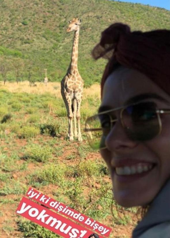 Özge Özpirinçci Afrika'da Safariye çıktı