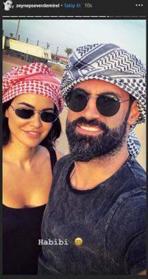 Volkan Demirel'in eşi Zeynep Habibi paylaşımı yaptı