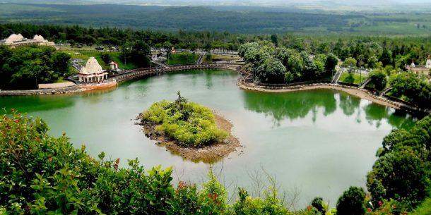 Balayı adası Mauritius Ganga Talao golü