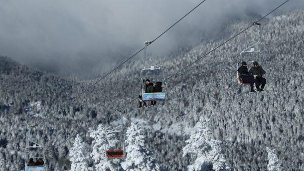 Bir saat içinde kayak heyecanı ve kaplıca keyfi