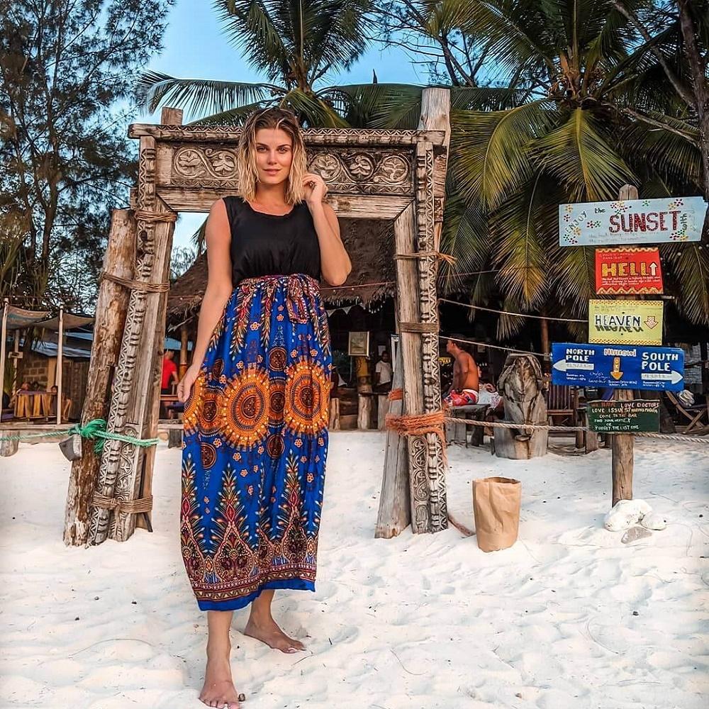 Ashley'e Zanzibar tatilinde Instagram paylaşımları da yaptı